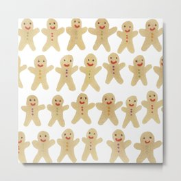 Gingerbread people Metal Print