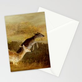 Fallow Deer Running Stationery Cards