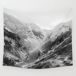Light in mountains Wall Tapestry