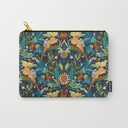 Victorian damask midnight Carry-All Pouch