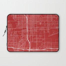 San Bernardino Map, USA - Red Laptop Sleeve