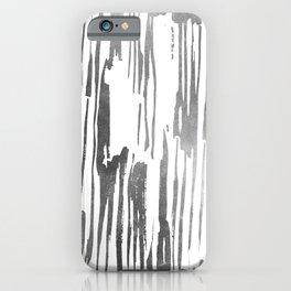 Modern Stripes Gray iPhone Case