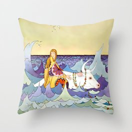 """""""Europa and the Bull"""" by Virginia Sterrett Throw Pillow"""