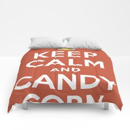 Keep Calm and Candy Corn Comforters