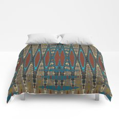 South Western Color Palette Mosaic Pattern Comforters
