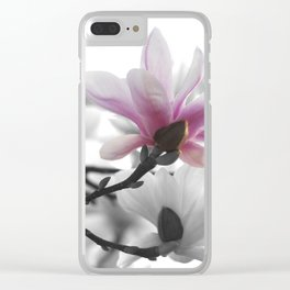 Springtime magnolia painting in nature Clear iPhone Case