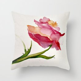 Single Stem Beauty Throw Pillow