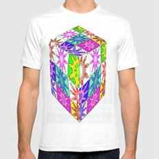 more abstract Mens Fitted Tee White MEDIUM