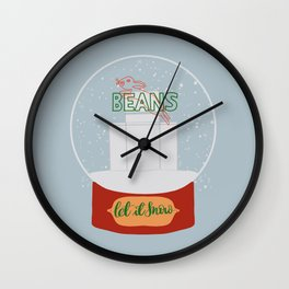 Christmas in Saginaw - Jack Rabbit Beans Wall Clock