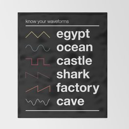 Know your Waveforms Throw Blanket