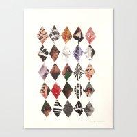 diamonds Canvas Prints featuring DIAMONDS by Brandon Neher