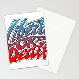Liberty or Death. Graffiti, font composition. Stationery Cards