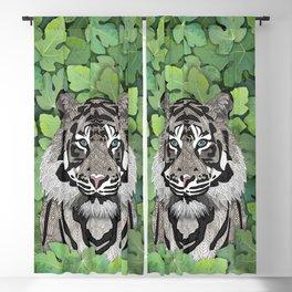 White Jungle Tiger Blackout Curtain