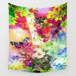 Floral Fantasy 7 Wall Tapestry