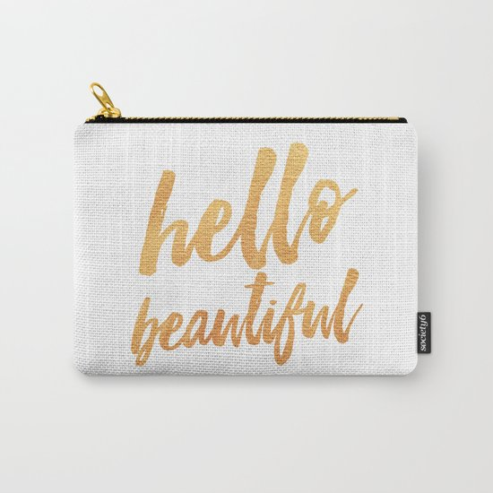 hello beautiful pouch bag carryall