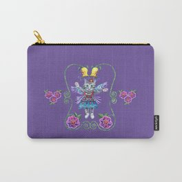 Angel Kitty (Purple) Carry-All Pouch