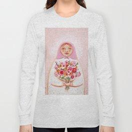 Matryoshka with flowers Long Sleeve T-shirt