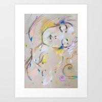 klimt Art Prints featuring Klimt inspiration by Oriane Jouët
