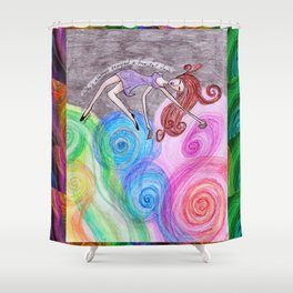 Free Fall View Shower Curtain