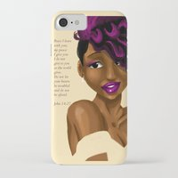 scripture iPhone & iPod Cases featuring Splash of Color (with scripture) by RM2 Designs