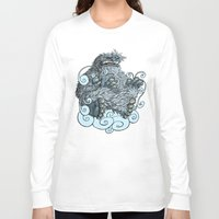yeti Long Sleeve T-shirts featuring Yeti by David Comito