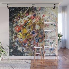 Cosmic Orbit - Mixed Media Beeswax Encaustic Abstract Modern Fine Art, 2015 Wall Mural