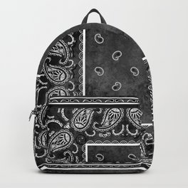 Black Denim Bandana Backpack