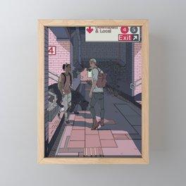 Subway Station Meetup Framed Mini Art Print