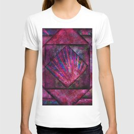 Magenta, Blue and Black Jewel Tone Quilt T-shirt