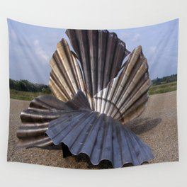 The Scallop sculpture by Maggi Hambling.  Wall Tapestry