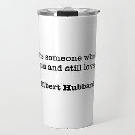 Elbert Hubbard Quote Travel Mug