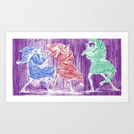 Three Assassins Art Print