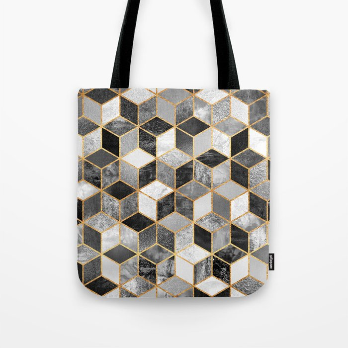 Black & White Cubes Tote Bag