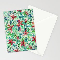 Vintage Tropical Floral - a watercolor pattern Stationery Cards