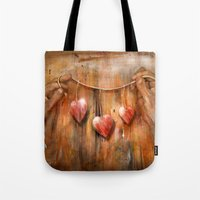 hearts Tote Bags featuring Hearts ! by teddynash
