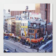 A Corner in Chinatown Canvas Print