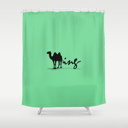 Green Humping Shower Curtain