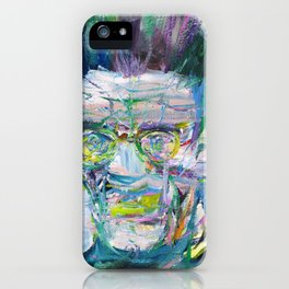 SAMUEL BECKETT watercolor and acrylic portrait iPhone Case