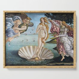 Botticelli's The Birth of Venus (High Resolution) Serving Tray