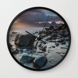 Sunset at Elgol III Wall Clock