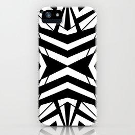 Black & White Kaleidoscope iPhone Case