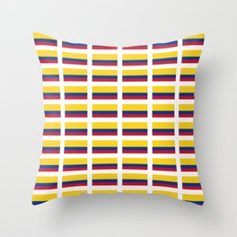 Flag of Colombia 2 -Colombian,Bogota,Medellin,Marquez,america,south america,tropical,latine america Throw Pillow