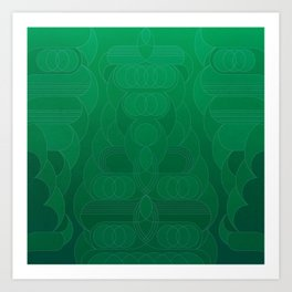 Round and About Emerald Art Print