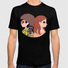 Sam and Suzy LARGE Black Mens Fitted Tee