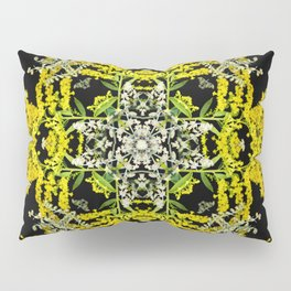 Crowning Goldenrod and Silver king Kaleidoscope Scanography Pillow Sham