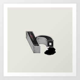 Dissecting Typefaces - h Art Print