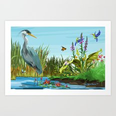 Wetlands 1 Art Print