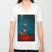 under the sea V-neck T-shirts featuring Under The Mystic Sea by Bella Blue Photography