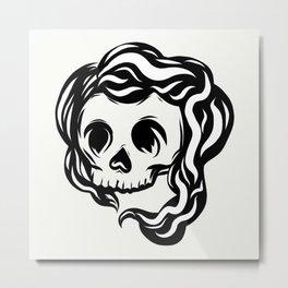 Tribal illustrated skull Metal Print