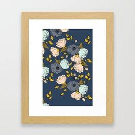 Flowers in Blue Framed Art Print